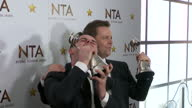 Interior shots Ant and Dec at the National Television Awards after winning award for 'Best TV Presenter' posing with awards on January 20 2016 in...