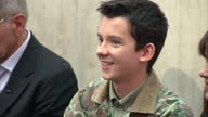 Interior shots Asa Butterfield is introduced to the audience at a QA session at Westminster Academy The cast of Ender's Game visited the secondary...