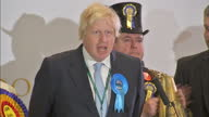Interior shots Boris Johnson speech after winning Uxbridge Ruislip South on May 08 2015 in London England