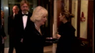Interior shots Camilla Duchess of Cornwall walking through the Guildhall and greeting guests on October 14 2014 in London England