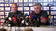 Interior shots Carlo Ancelotti Paris SaintGermain manager talks about David Beckham's quality professionalism Carlo Ancelotti talks about David...