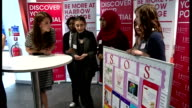 Interior shots Catherine Duchess of Cambridge talking with young people at event hosted by Mind at Harrow College to mark World Mental Health Day on...