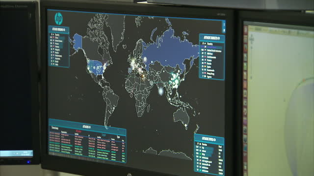 Interior shots cyber attack programme running on NCA computer being operated by member of the cyber crime team on October 14 2015 in Vauxhall England