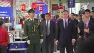 Interior shots David Cameron walking in Tesco with Chinese officials Exterior shots David Cameron sat drinking tea with business leaders David...