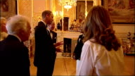 Interior shots Emelie Sande singer meeting Prince William Duke of Cambridge at gala dinner for the Royal Marsden Hospital on May 13 2014 in Windsor...