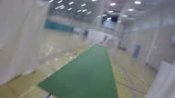Interior shots from the point of view of a student practicing batting in indoor cricket nets shot from a helmetmounted GoPro camera>> on November 25...