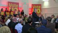 Interior shots Gordon Brown Vote No Speech