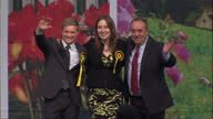 Interior shots Gordon SNP candidate and Former First Minister Alex Salmond with SNP Candidate for West Aberdeenshire and Kincardine Constituency...