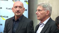 Interior shots Harrison Ford and Sir Ben Kingsley enter auditorium at Westminster Academy They were joined by younger Hollywood stars Asa Butterfield...