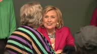Interior shots Hillary Clinton former United States Secretary of State at New York book signing of her memoir Hard Choices on June 07 2014 in...