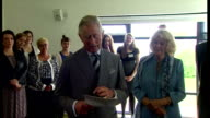 Interior shots HRH Prince Charles Prince of Wales making speech at Corrymeela Community Centre on May 22 2015 in Ballycastle Northern Ireland