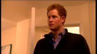 Interior shots HRH Prince Harry shown around bedroom at charity Armed Forces and Veterans Launchpad at Avondale House on February 25 2015 in...
