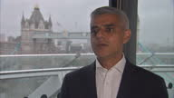 Interior shots interview with Sadiq Khan Mayor of London RE Cressida Dick and Amber Rudd committing to more stop and search for police policy...
