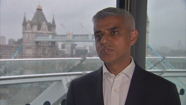 Interior shots interview with Sadiq Khan Mayor of London RE rise in acid attacks and tougher sentences in London England on Wednesday 9th August 2017