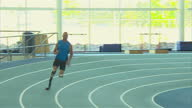 Interior shots interviews Mark Lewis Francis and Oscar PistoriusThe sprinter known as the 'Blade Runner' will be hoping to wow the crowds in the UK...