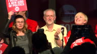 Interior shots Jeremy Corbyn MP Labour leader candidate with supporters at Campaigning Event in North London on September 10 2015 in London England