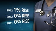 Interior shots Jeremy Hunt in hospital various NHS employees at work Includes graphics of figures Health unions have reacted with anger to the...
