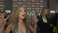 Interior shots Juno Temple actress on Vinyl Premiere red carpet talking about working on TV show Vinyl and working with Martin Scorsese and Mick...
