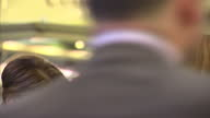 Interior shots Leanne Wood Leader of Plaid Cymru talking with SNP supporters at the SNP 2015 party conference on October 17 2015 in Aberdeen Scotland