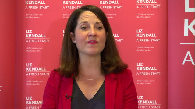 Interior shots Liz Kendall MP Labour Party leader candidate speaking at campaign event on September 10 2015 in London England