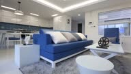 Interior shots of a furnished condo model unit within a condominium developed by Greenland Holding Group Co In Jeju South Korea A shot of an...