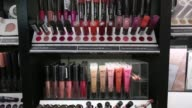 Interior shots of a Walgreens store in midtown Manhattan New York on June 10th 2015 Shots Slow pans across products lining the cosmetics aisle Close...