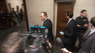Interior shots of Adam Schiff Democrat arriving for a hearing on alleged wiretapping claims on 20 March 2017 in Washington DC