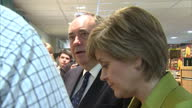 Interior shots of Alex Salmond and Nicola Sturgeon visiting an Inverurie grocery shop whilst campaigning ahead of the May 7th general election on...