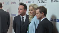 Interior shots of Ant Dec posing for photos with Rita Ora Shots of Bear Grylls Dynamo Geri Horner talking to each other on the red carpet at the...