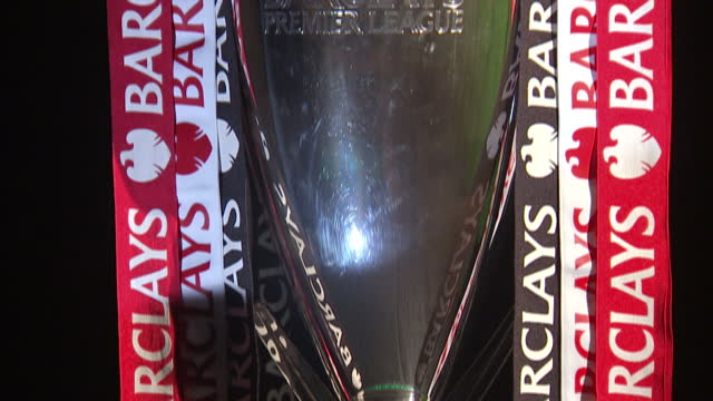 interior shots of Barclays Premiere League trophy Barclays FA Premiere League starts this weekend on August 16 2013 in Various Cities