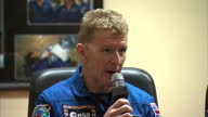 Interior shots of British astronaut Tim Peake speaking at a pre flight press conference ahead of his mission to the International on December 14 2015...