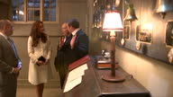 Interior shots of Catherine Duchess of Cambridge speaking to members of the Downton Abbey cast and crew including Julian Fellowes and Brendan Coyle...