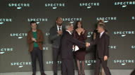 Interior shots of director Sam Mendes introducing cast members for the forthcoming James Bond movie 'Spectre' including Rory Kinnear Ben Whishaw...