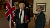 Interior shots of Foreign Secretary Boris Johnson meeting with Abdulrahman Asswehly head of the Libyan High State Council on August 07 2017 in...