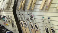 Interior shots of Gunn Moore cricket bats and other equipment on display in a shop in Nottingham>> on November 25 2014 in Nottingham