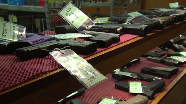 Interior shots of handguns ammunition and accessories on sale in a gun shop on May 02 2016 in Columbus Georgia