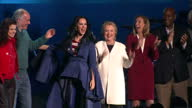 Interior shots of Hillary Clinton with the singer Katy Perry on stage during a Democratic campaign rally in Philadelphia on November 06 2016 in...