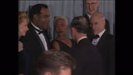 Interior shots of HRH Prince Charles meeting cast of 'Star Trek First Contact' at the film premiere including actors James Cromwell Alfre Woodard...