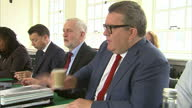 Interior shots of Jeremy Corbyn MP holding a British LAbour Party Shadow Cabinet meeting inc Tom Watson MP Keir Starmer MP and Diane Abbott on 5th...