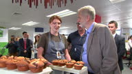 Interior shots of Labour leader Jeremy Corbyn viewing stalls and speaking to delegates at the Labour National Women's Conference>> on September 26...