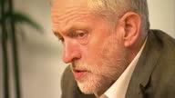 Interior shots of Labour leadership contender Jeremy Corbyn sat at a desk on August 14 2015 in Edinburgh Scotland