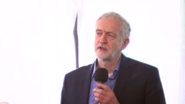 Interior shots of Labour party leader Jeremy Corbyn addressing community members during a Visit My Mosque Day event at Finbury Park Mosque praising...