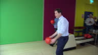 Interior shots of Lib Dem leader Nick Clegg bowling ball rolls into the gutter on April 12 2015 in Colchester England