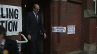 Interior shots of Mark Reckless UKIP and wife Catriona voting at polling station Exterior shots of Mark Reckless posing outside polling station on...