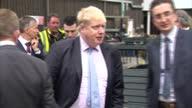 Interior shots of Mayor of London Boris Johnson MP Theresa Villiers MP Secretary for Northern Ireland walking around Wrightbus factory on February 29...