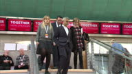 Interior shots of Mayor of London Sadiq Khan attending to Scottish Labour party conference and greeting campaigners at a booth>> on February 25 2017...