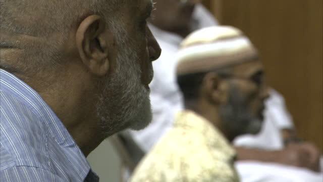 Interior shots of Muslim men practising Islam praying at a mosque in Florida Muslim men praying at a mosque in Florida on September 04 2010 in...