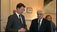 Interior shots of Palestinian president Mahmoud Abbas Deputy Prime Minister Nick Clegg meet to discuss progress in the Middle East peace process...