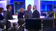 Interior shots of Prince Charles and Camilla Duchess of Cornwall visiting the Sky Sports News studio with Sky Chief Executive Jeremy Darroch>> on...
