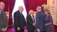 Interior shots of Prince Charles arriving at a Holocaust Memorial Day Trust reception at St James' Palace and greeting officials including Olivia...